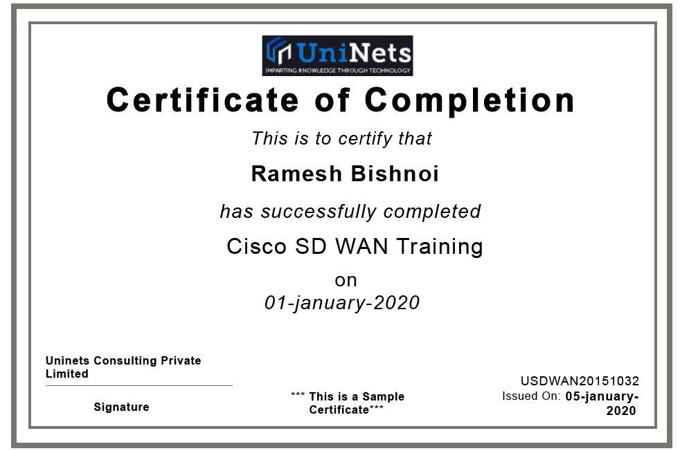 Cisco Sd Wan Viptela Certification And Training